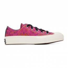 Converse Pink and Purple Snake Chuck 70 Ox Low Sneakers 570356C