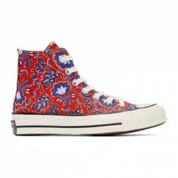 Converse Red Paisley Chuck 70 High Sneakers 171072C