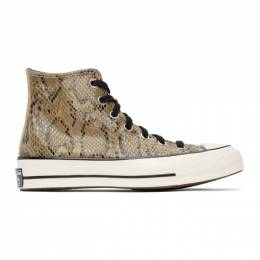 Converse Brown Snake Chuck 70 High Sneakers 170103C