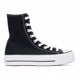 Converse Black Platform Chuck Taylor All Star High Sneakers 170522C