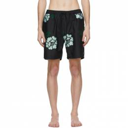 Saturdays Nyc Black Timothy Rose Swim Shorts M12132TI02