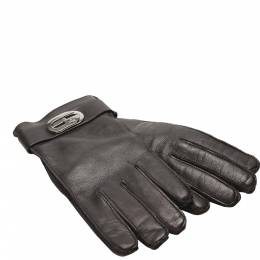 Gucci Black Leather Gloves 358587