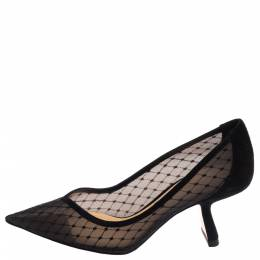 Nicholas Kirkwood Black Mesh and Suede Lexi Pumps Size 37.5 376941