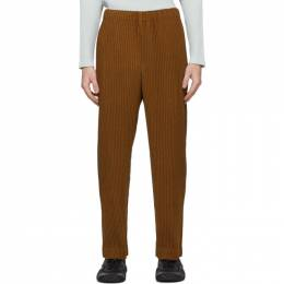 Homme Plisse Issey Miyake Yellow Heather Pleats Trousers HP08JF144