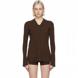 Live The Process Brown Tuxedo Cardigan 734