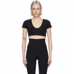 Live The Process Black Crystal V-Neck Sport Top 426