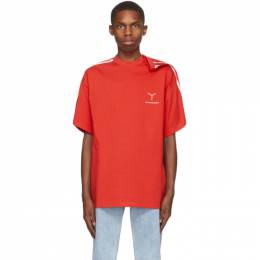 Y / Project Red Clip Shoulder T-Shirt TS55-S20