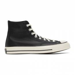 Converse Black Leather Chuck 70 High Sneakers 170369C