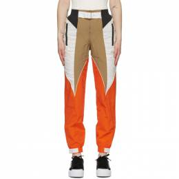 Adidas Originals Tan and Orange Paolina Russo Edition Piping Track Pants GD9994