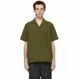 Saturdays Nyc Green Seersucker Canty Short Sleeve Shirt M12130CT01