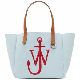 J.W. Anderson Blue and Red Recycled Canvas Belt Tote HB0327-FA0039