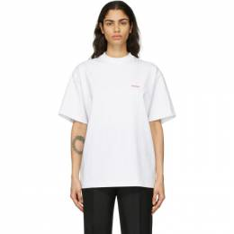 We11Done White We11done Logo T-Shirt WD-TP6-20-050-U-WH