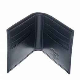 Navy Blue Leather Bifold Wallet 380134 S.T. Dupont