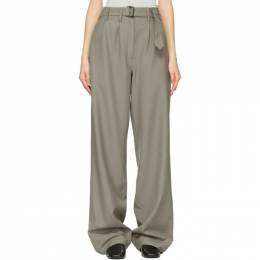 Lemaire Taupe Wool Loose Pants W 211 PA289 LF414