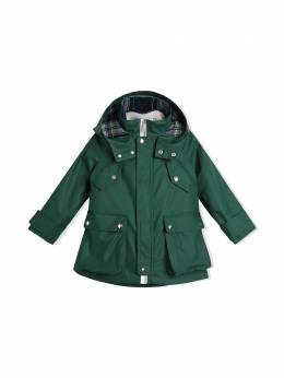 Burberry Kids Cotton Blend Hooded Parka with Detachable Warmer 8000961