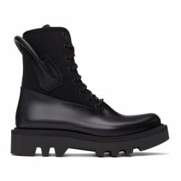 Givenchy Black Neoprene and Rubber Combat Boots BH700GH0S5