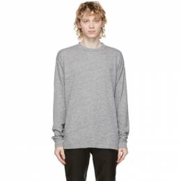 John Elliott Grey Classic University Long Sleeve T-Shirt A189A0923A
