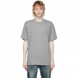 John Elliott Grey Lucky Pocket T-Shirt A220A0121A