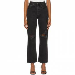 Agolde Black 90s Mid-Rise Loose Jeans A069B-1087