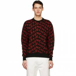 Givenchy Black and Red Refracted Sweater BM90EQ4Y7G