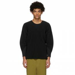 Homme Plisse Issey Miyake Black Monthly Colors January Long Sleeve T-Shirt HP16JK107