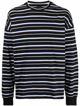 Juun.J striped long-sleeved cotton T-shirt JC1241P01