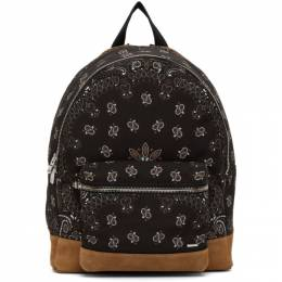 Amiri Black Canvas and Suede Bandana Backpack MAB004-007