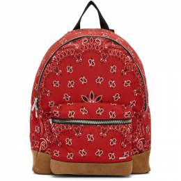 Amiri Red Canvas and Suede Bandana Backpack MAB004-641