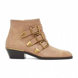 Chloe Pink and Gold Susanna Boots CHC16A13475