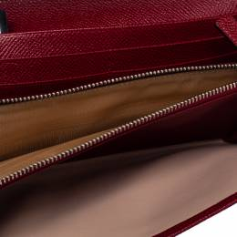 Bvlgari Red Leather Bvlgari Bvlgari Continental Wallet 384320