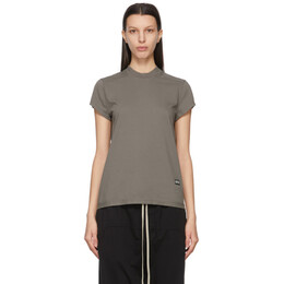 Rick Owens DRKSHDW Taupe Small Level T-Shirt DS21S2208 RN