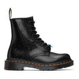 Dr. Martens Black Keith Haring Edition 1460 Boots 26832001