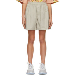 We11Done Beige Logo Patch Shorts WD-PT0-21-209-M-BG