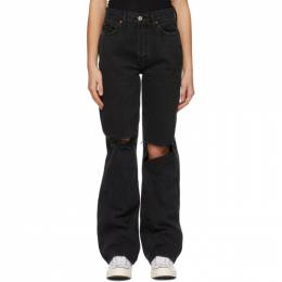 Re/done Black 90s High-Rise Loose Jeans 184-3WHRL