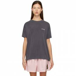 We11Done Grey Jersey Oversized T-Shirt WD-TP2-20-710-U-GY