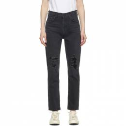 Citizens of Humanity Black High-Rise Charlotte Jeans 1731-1098*
