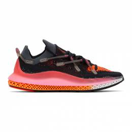 Adidas Originals Black and Pink 4D Fusio Sneakers FX6131