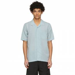 Soulland Blue and Orange Pappy Short Sleeve Shirt 10047-1104