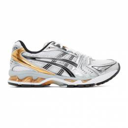 Asics White and Gold Gel-Kayano 14 Sneakers 1201A019