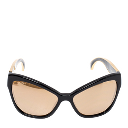 Chanel Black / Gold Mirrored 5271 Cat Eye Sunglasses 384885
