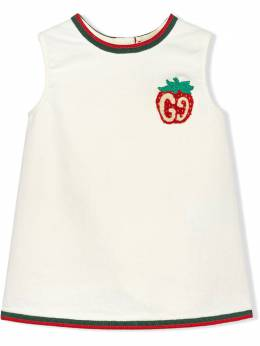 Gucci Kids платье с принтом Gucci Strawberry 595892XDBKQ