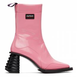 Eytys Pink Leather Gaia Boots GABG