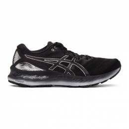 Asics Black and Silver Gel-Nimbus 23 Platinum Sneakers 1011B156