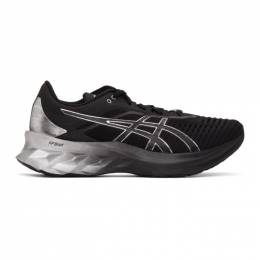Asics Black and Silver Novablast Platinum Sneakers 1011B157
