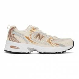 New Balance Beige and Gold 530 Sneakers MR530EMC