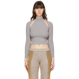 Eckhaus Latta Grey Dream Sweater 016-EL-PS21-AO