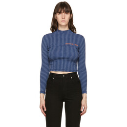 Eckhaus Latta Blue Lapped Baby Turtleneck 305-EL-PS21-S
