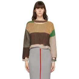 Eckhaus Latta Multicolor Alpaca Wiggly Road Sweater 492-EL-PS21-MM
