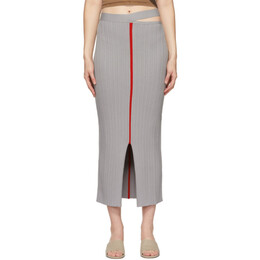 Eckhaus Latta Grey Dream Skirt 015-EL-PS21-AO