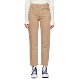 Re/done Beige 70s Stove Pipe Jeans 184-3WSTV27R